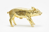 Reality Bank in Form of Pig Gold Chrome | Areaware