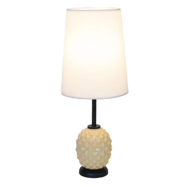 Up Pineapple Table Lamp - Coconut Glass | Lights Up!