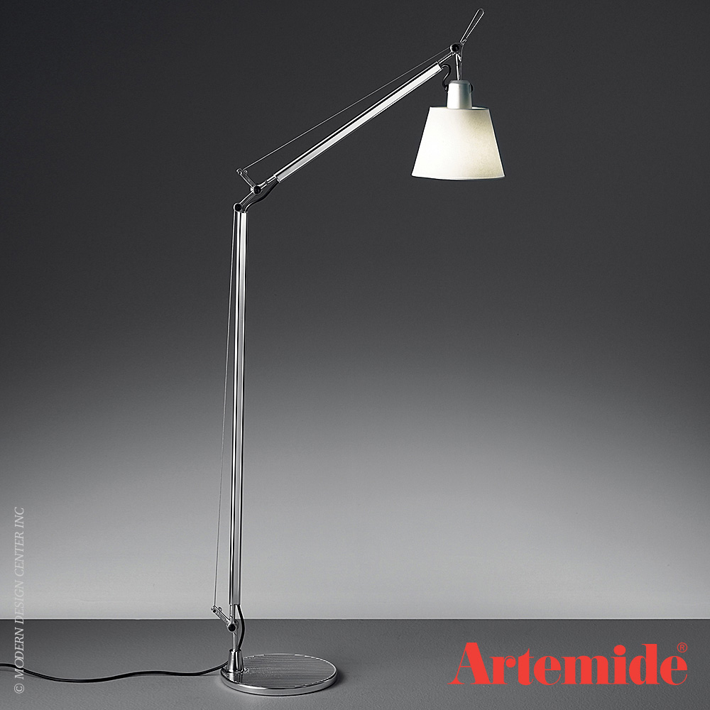 Tolomeo with Shade Reading Floor Lamp | Artemide