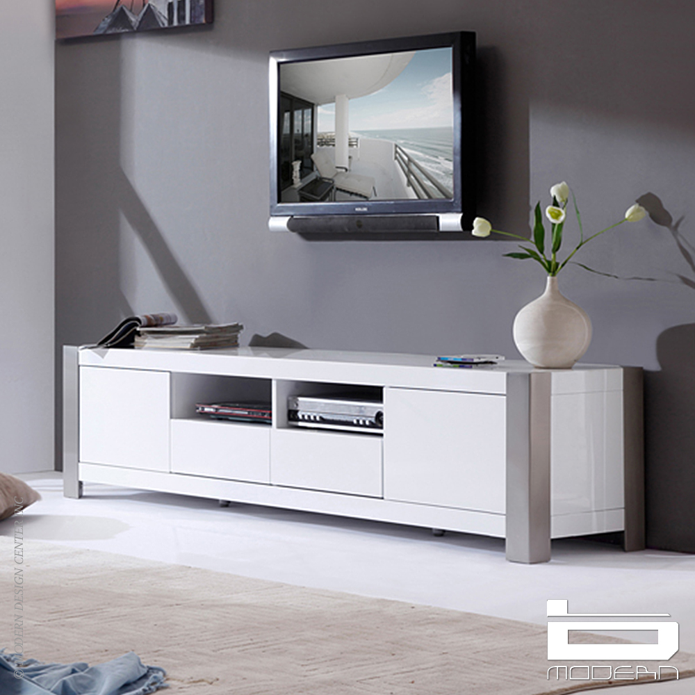 Composer TV Stand, White | B-Modern
