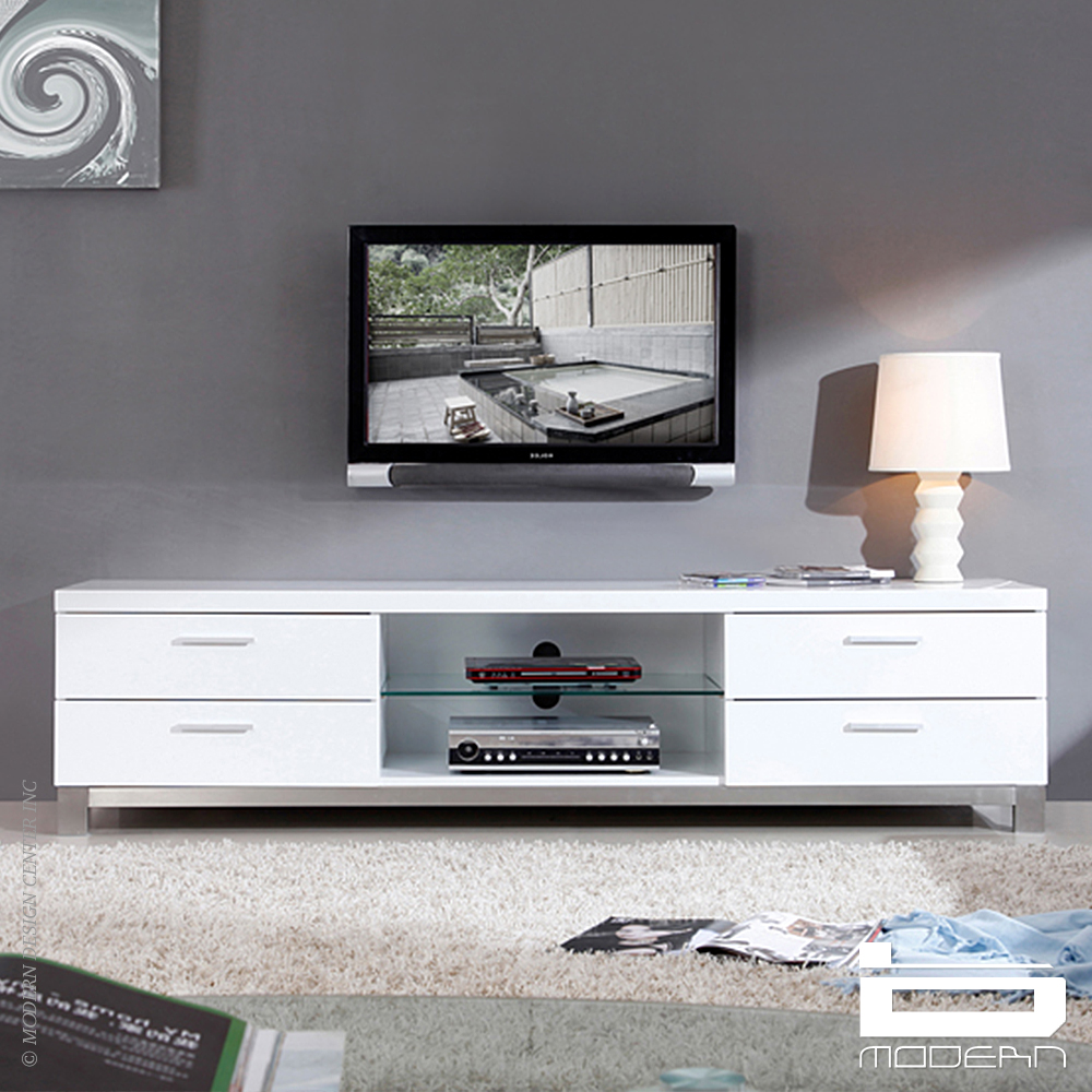 Promoter TV Stand, White | B-Modern