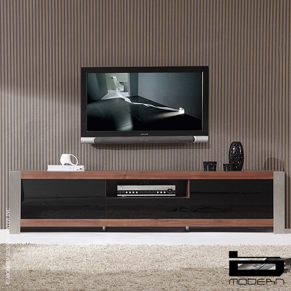 b modern coordinator walnut tv stands metropolitandecor. Black Bedroom Furniture Sets. Home Design Ideas