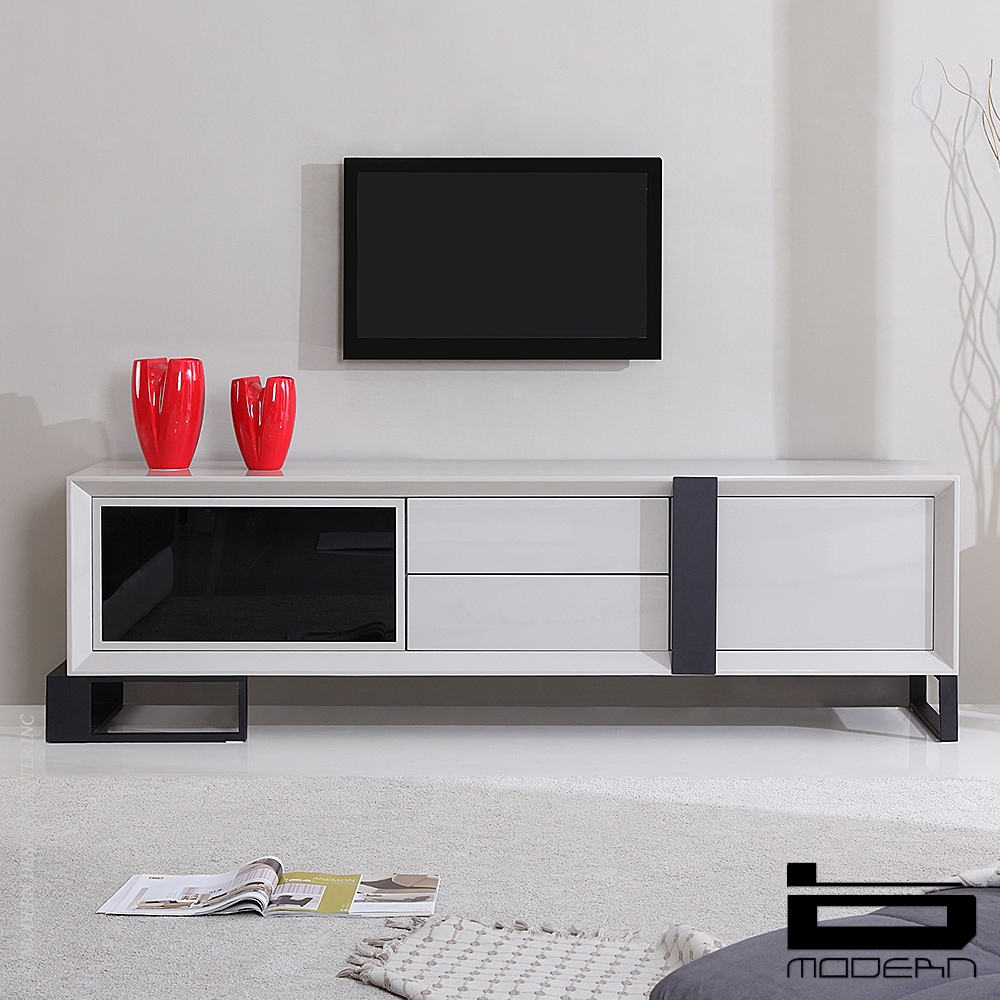 Entertainer TV Stand, Cream | B-Modern