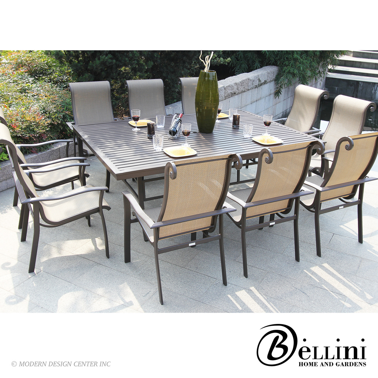 Angrove 11-piece Dining Set A25411 | Bellini