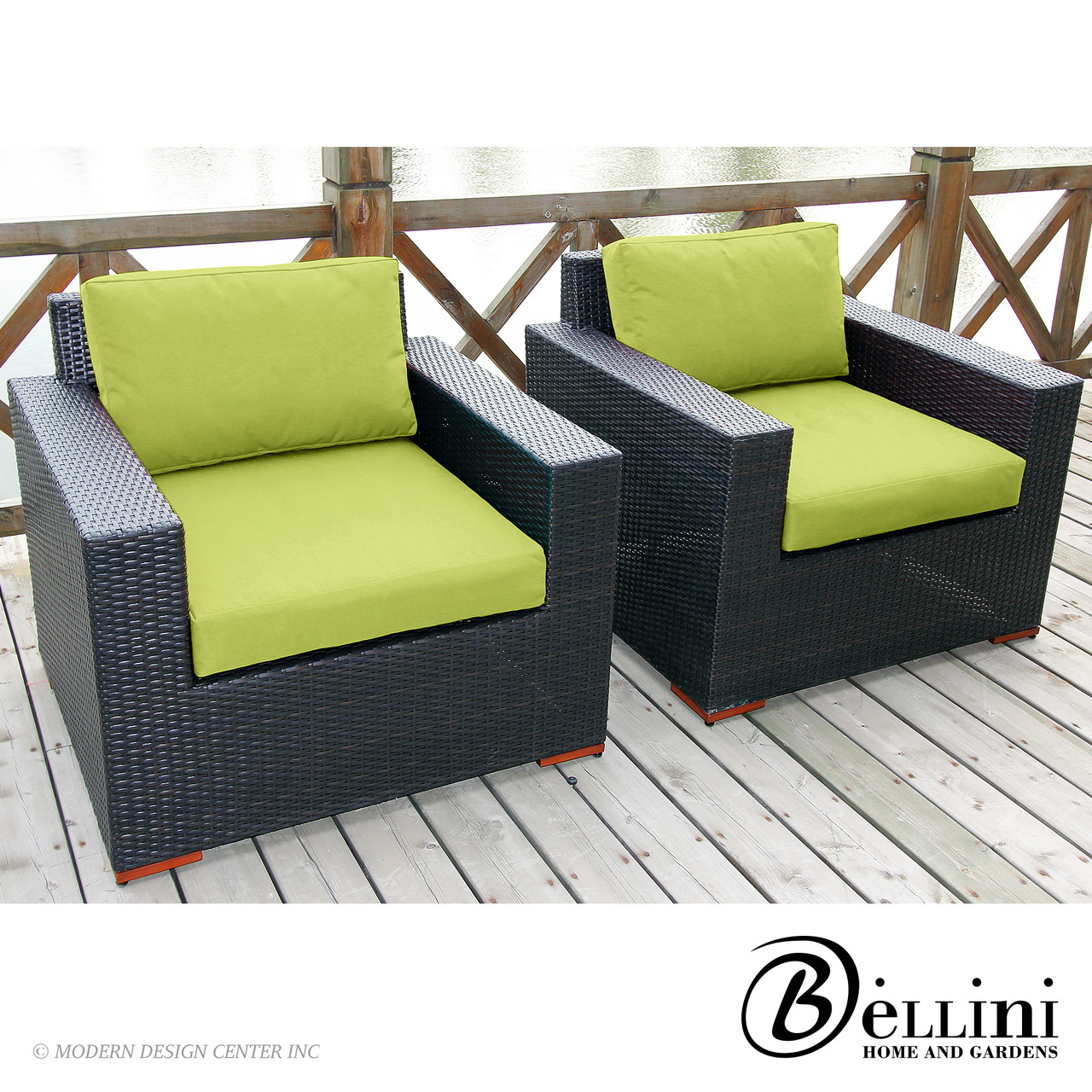Bali Deep Seating Club Chairs W77102 Set of 2 | Bellini