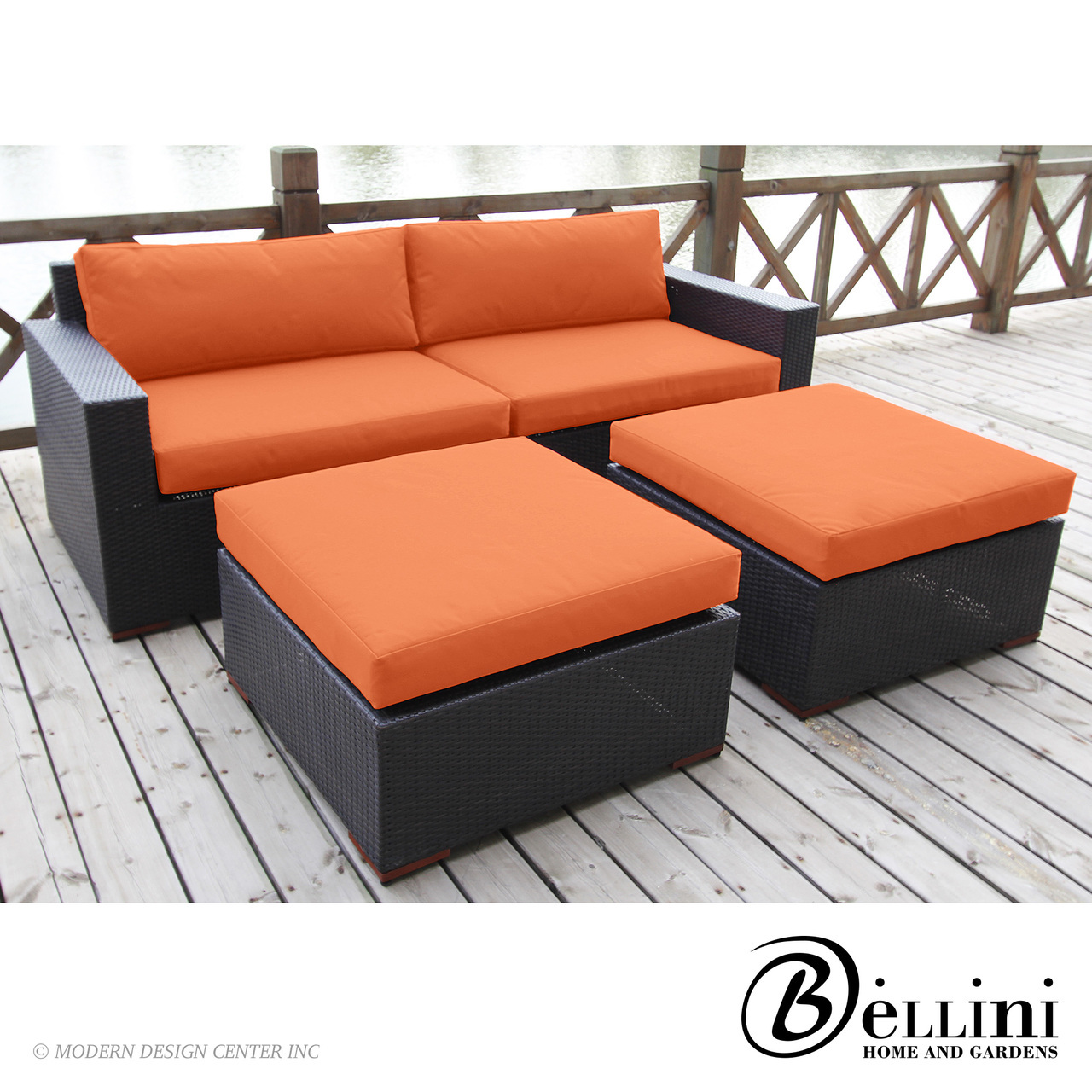 Bali Deep Seating Sofa and Ottoman Set W77304 | Bellini