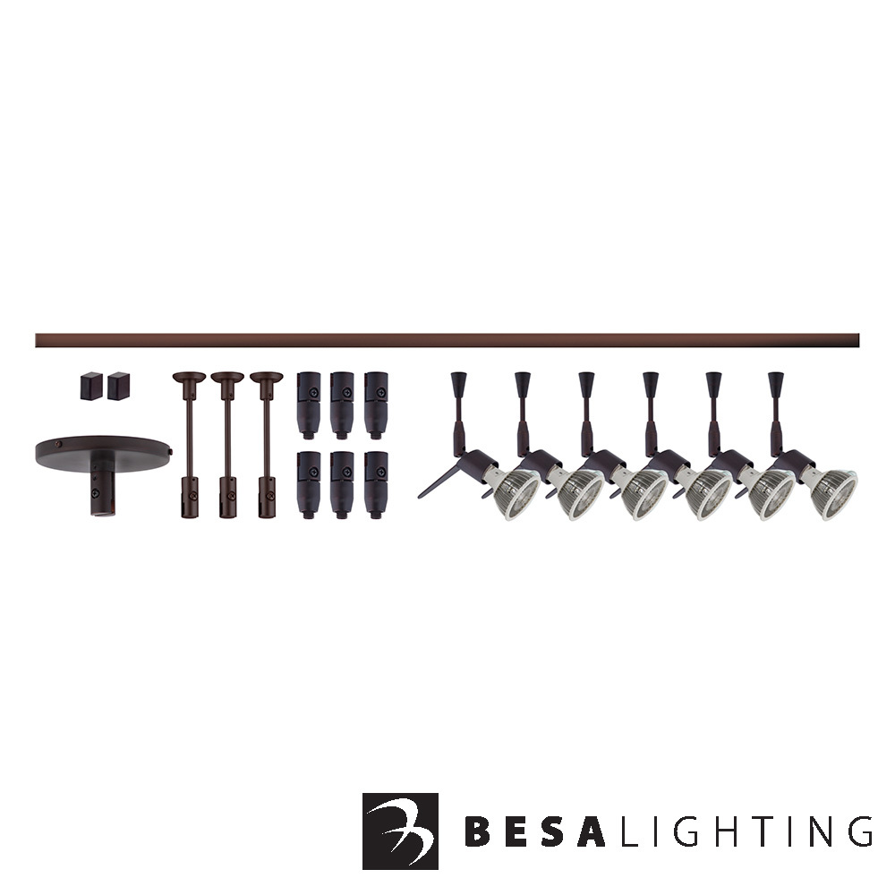 Tipster Monorail Kit Bronze | Besa Lighting