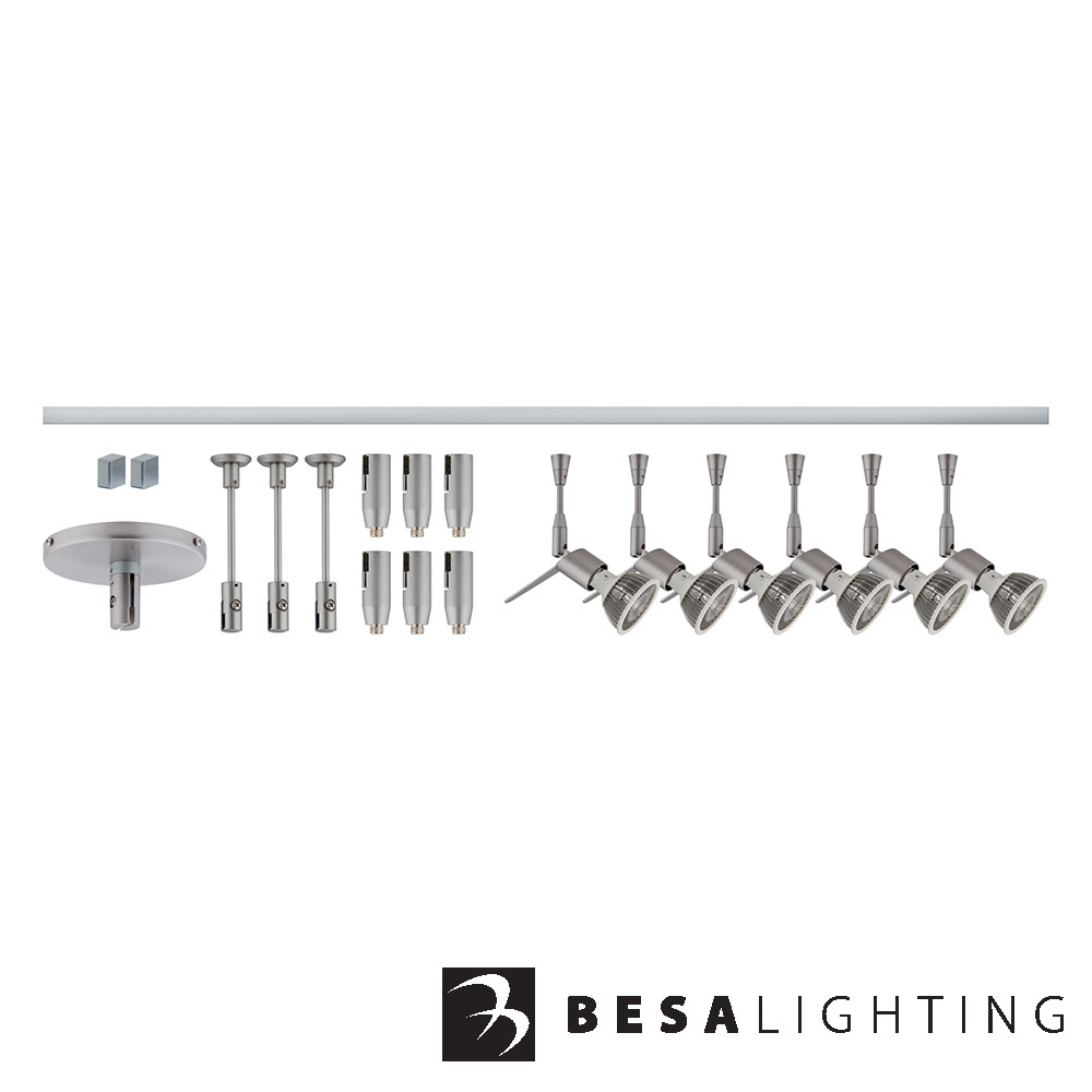 Tipster Monorail Kit Satin Nickel | Besa Lighting