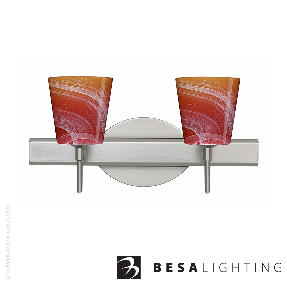 Canto 5 2-Light Vanity Sconce | Besa Lighting