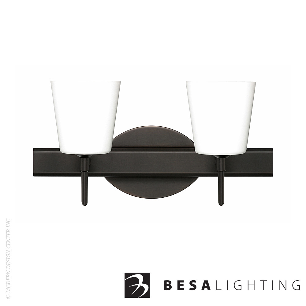 Canto 5 2-Light LED Vanity Sconce | Besa Lighting | MetropolitanDecor