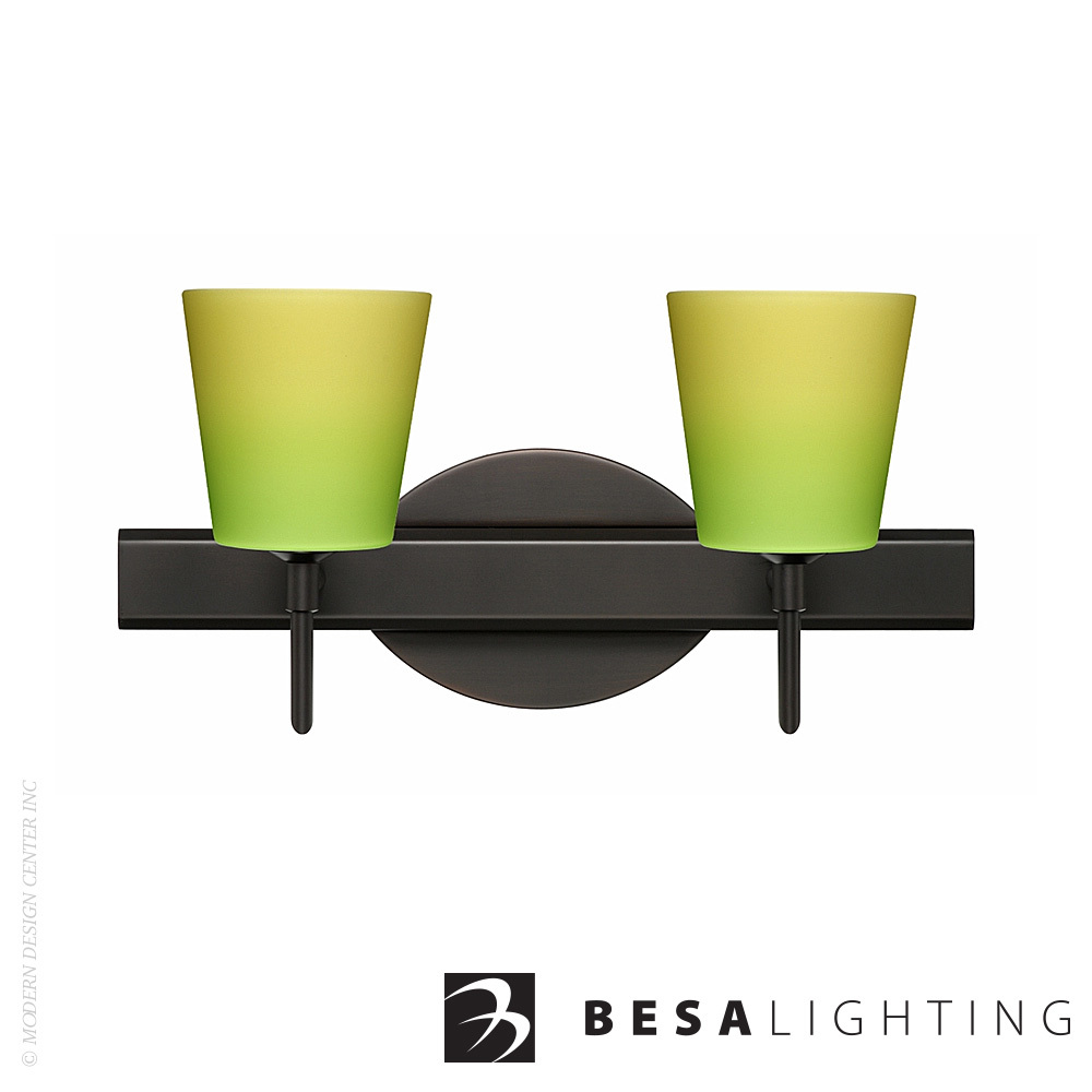 Canto 5 2-Light LED Vanity Sconce | Besa Lighting