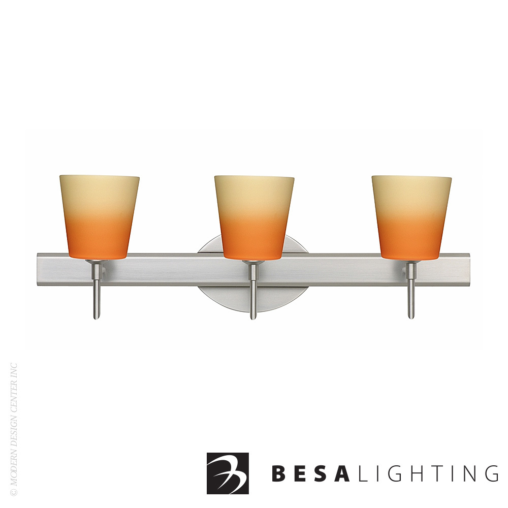 Canto 5 3-Light LED Vanity Sconce | Besa Lighting