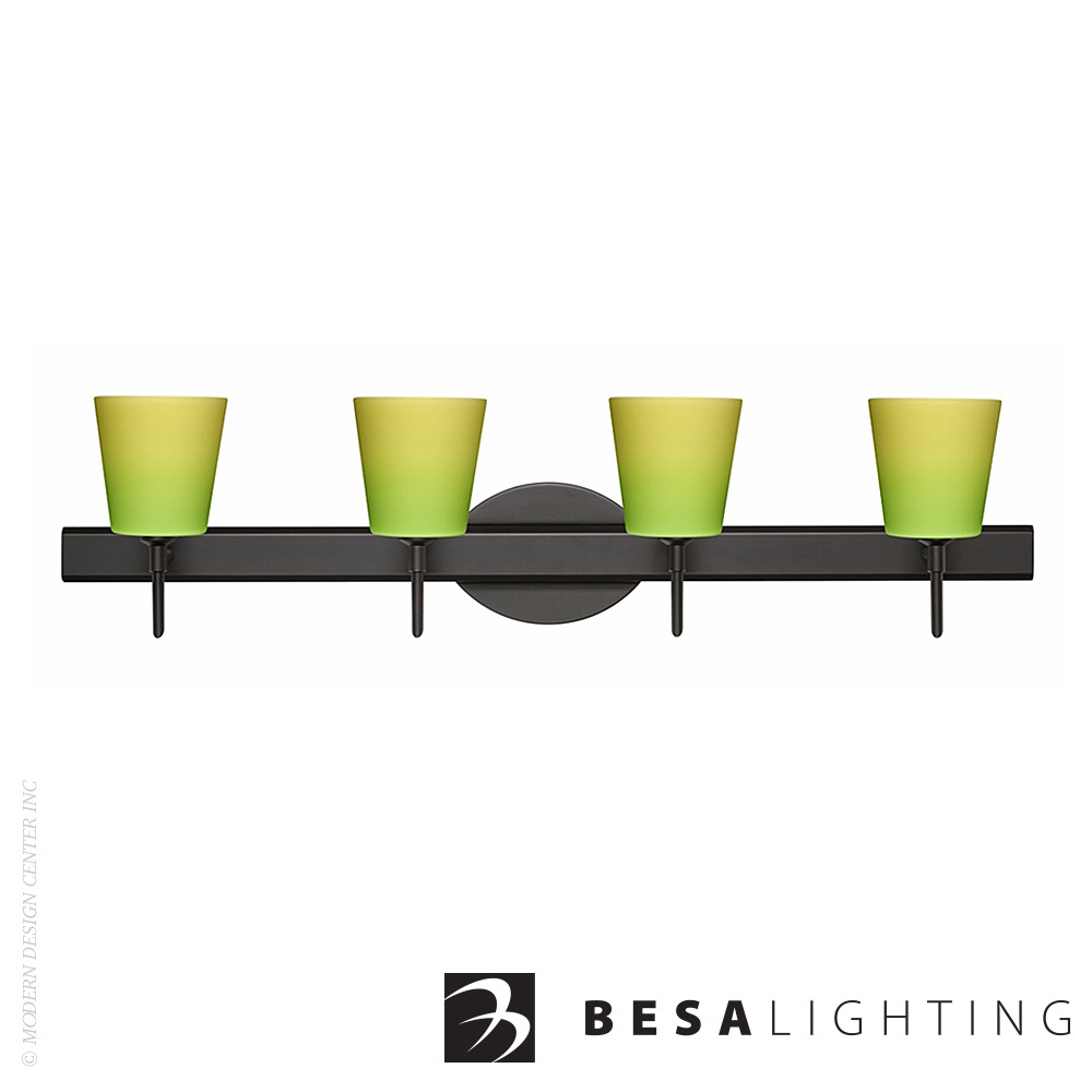 Canto 5 4-Light LED Vanity Sconce | Besa Lighting
