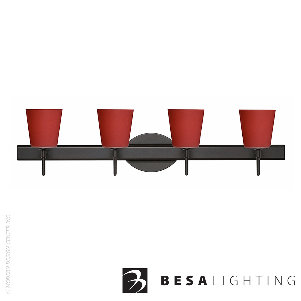 Canto 5 4-Light Vanity Sconce | Besa Lighting