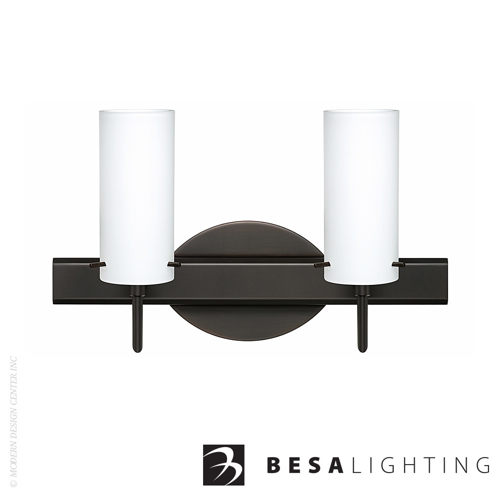Copa 3 2-Light Vanity Sconce | Besa Lighting