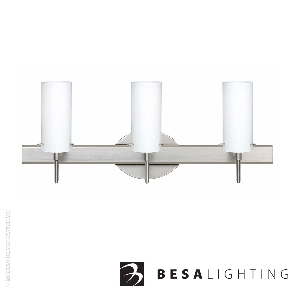 Copa 3 3-Light LED Vanity Sconce | Besa Lighting