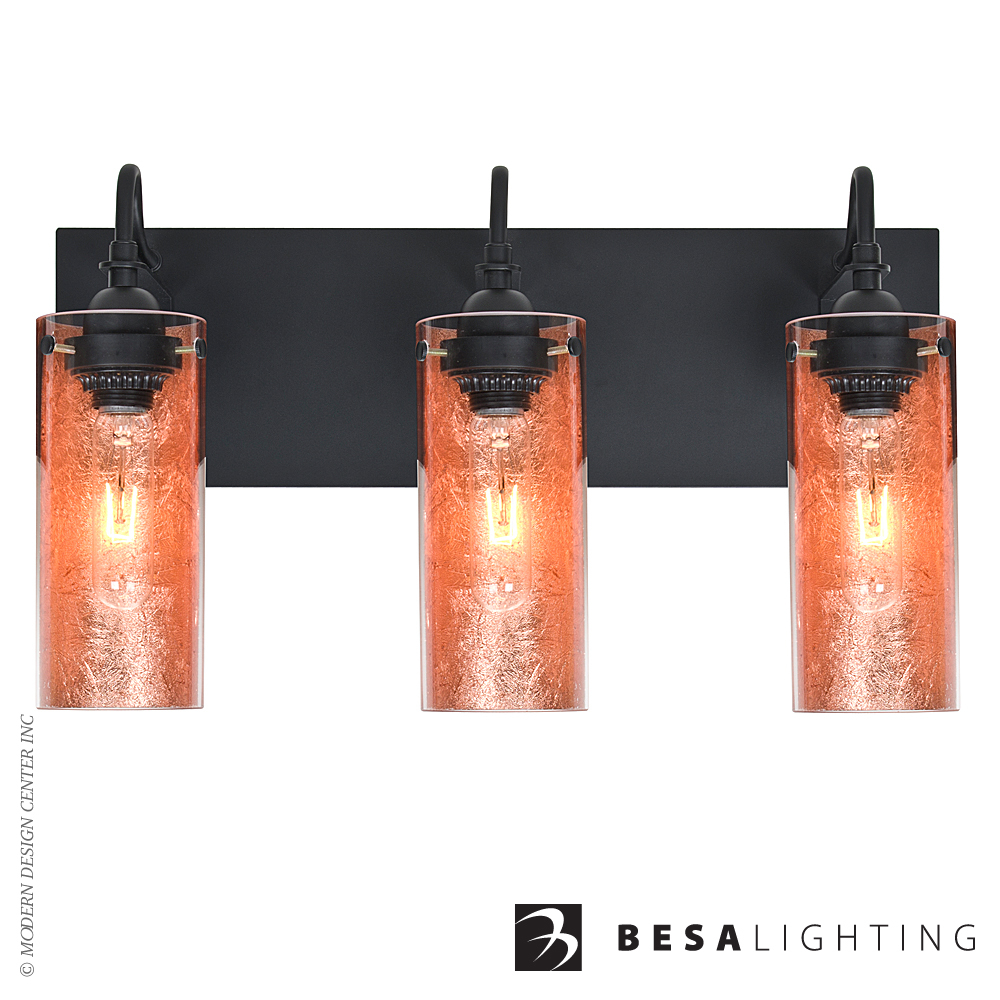 Duke 3-light Vanity Sconce | Besa Lighting