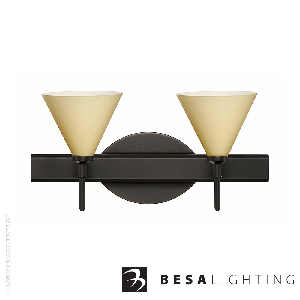 Kani 2-Light LED Vanity Sconce | Besa Lighting | MetropolitanDecor