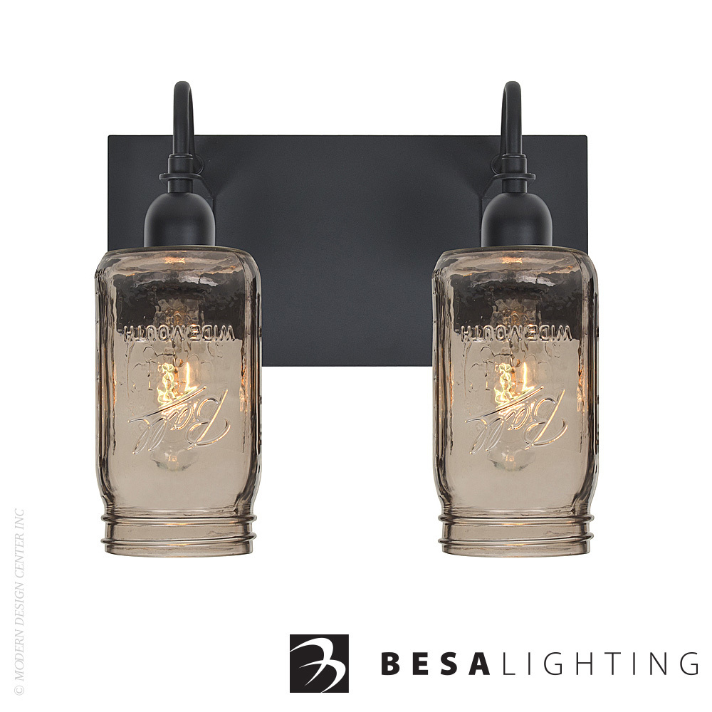 Milo 4 2-light Vanity Sconce | Besa Lighting | MetropolitanDecor