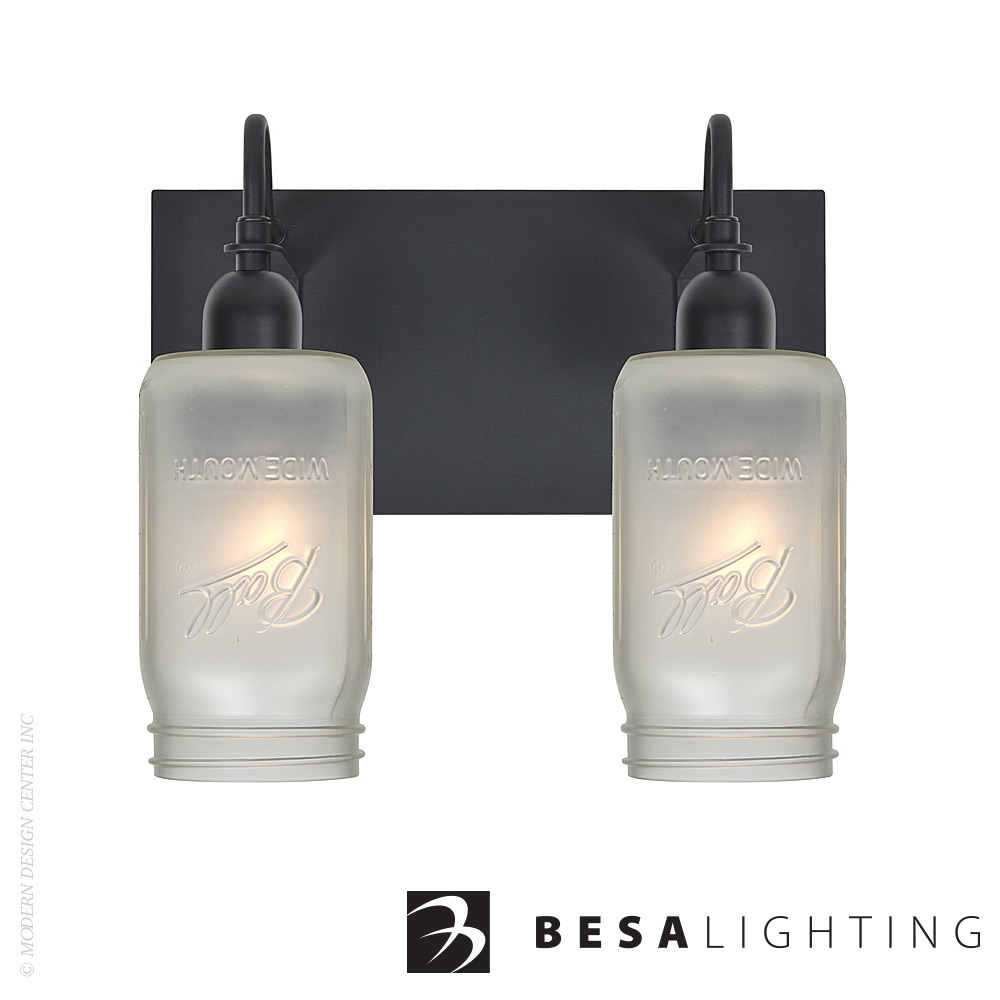 Milo 4 2-light Vanity Sconce | Besa Lighting