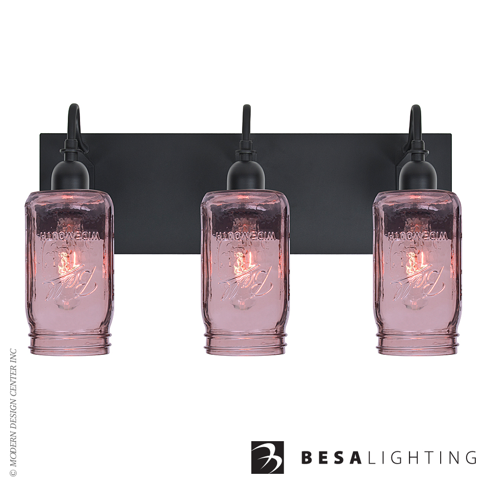 Milo 4 3-light Vanity Sconce | Besa Lighting