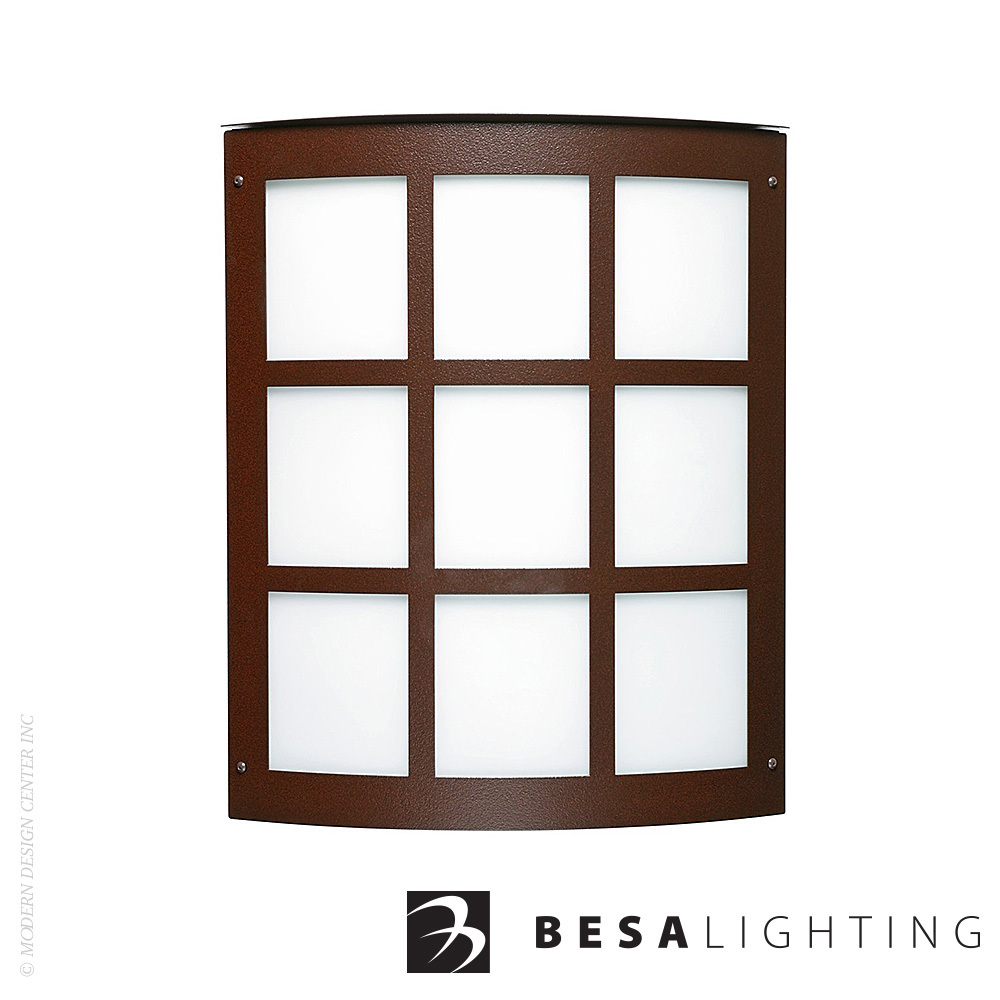 Moto 13 Grid Outdoor Wall Sconce | Besa Lighting