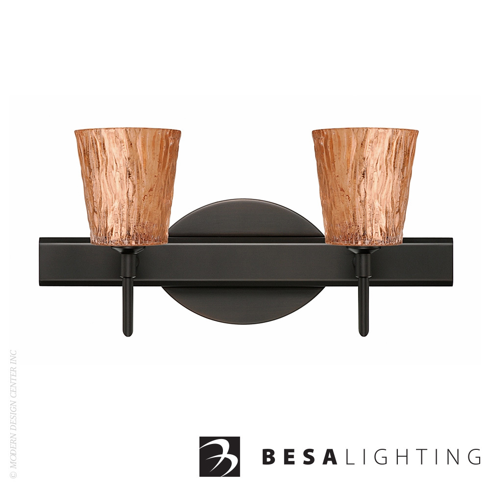 Nico 4 2-light LED Vanity Sconce | Besa Lighting