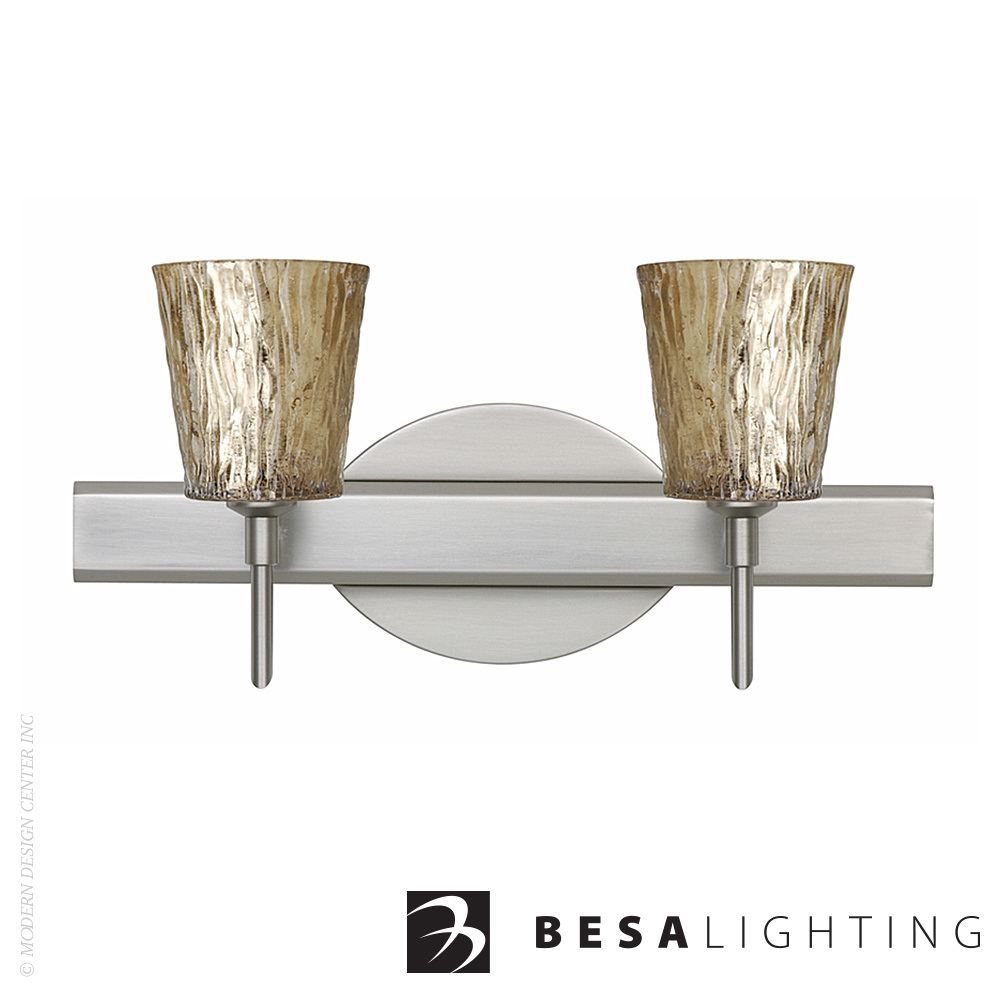 Nico 4 2-light LED Vanity Sconce | Besa Lighting | MetropolitanDecor