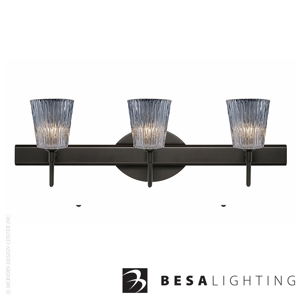 Nico 4 3-light LED Vanity Sconce | Besa Lighting