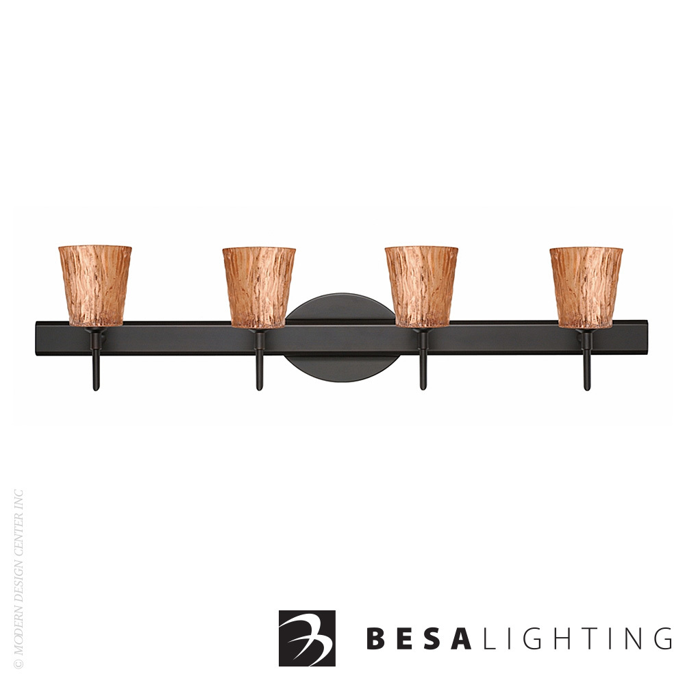 Nico 4 4-light LED Vanity Sconce | Besa Lighting