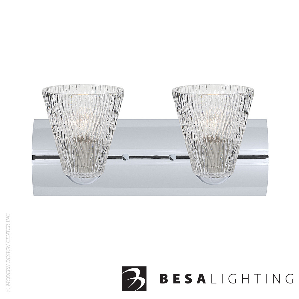 Nico 5 2-light LED Vanity Sconce | Besa Lighting