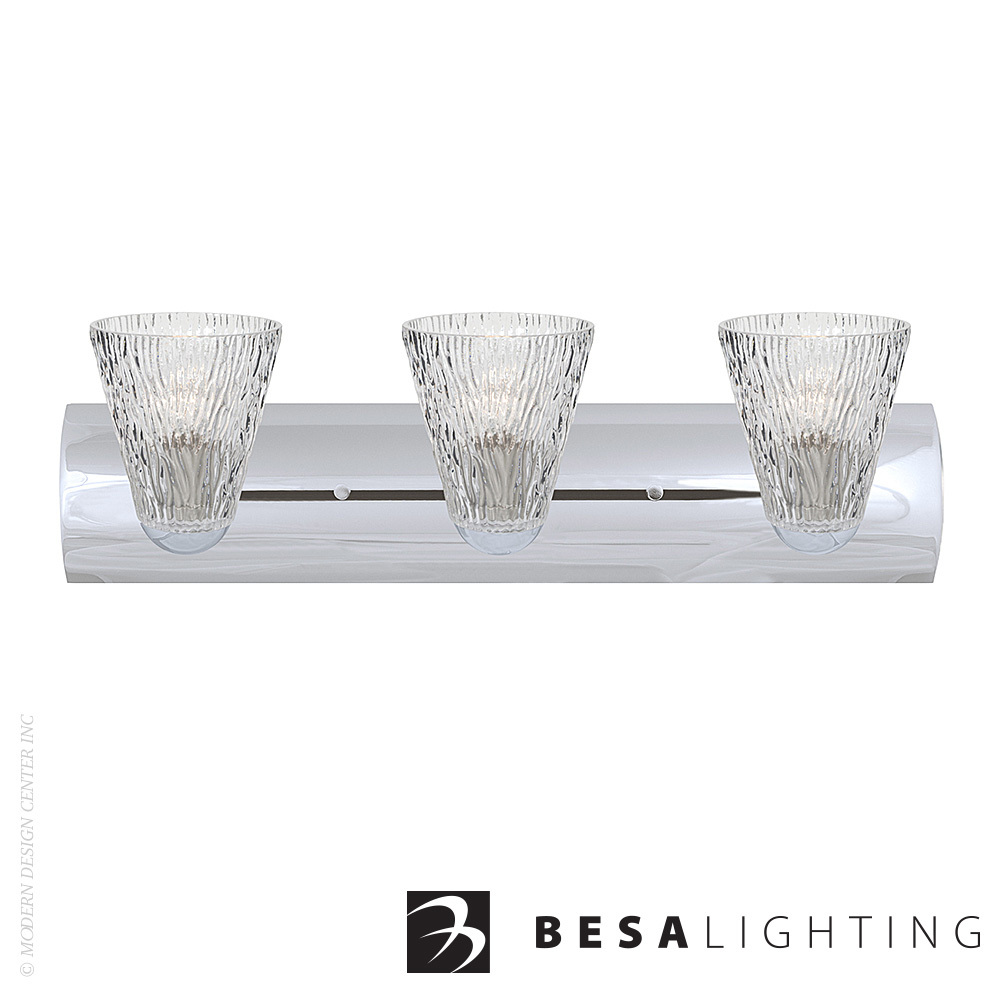Nico 5 3-light LED Vanity Sconce | Besa Lighting