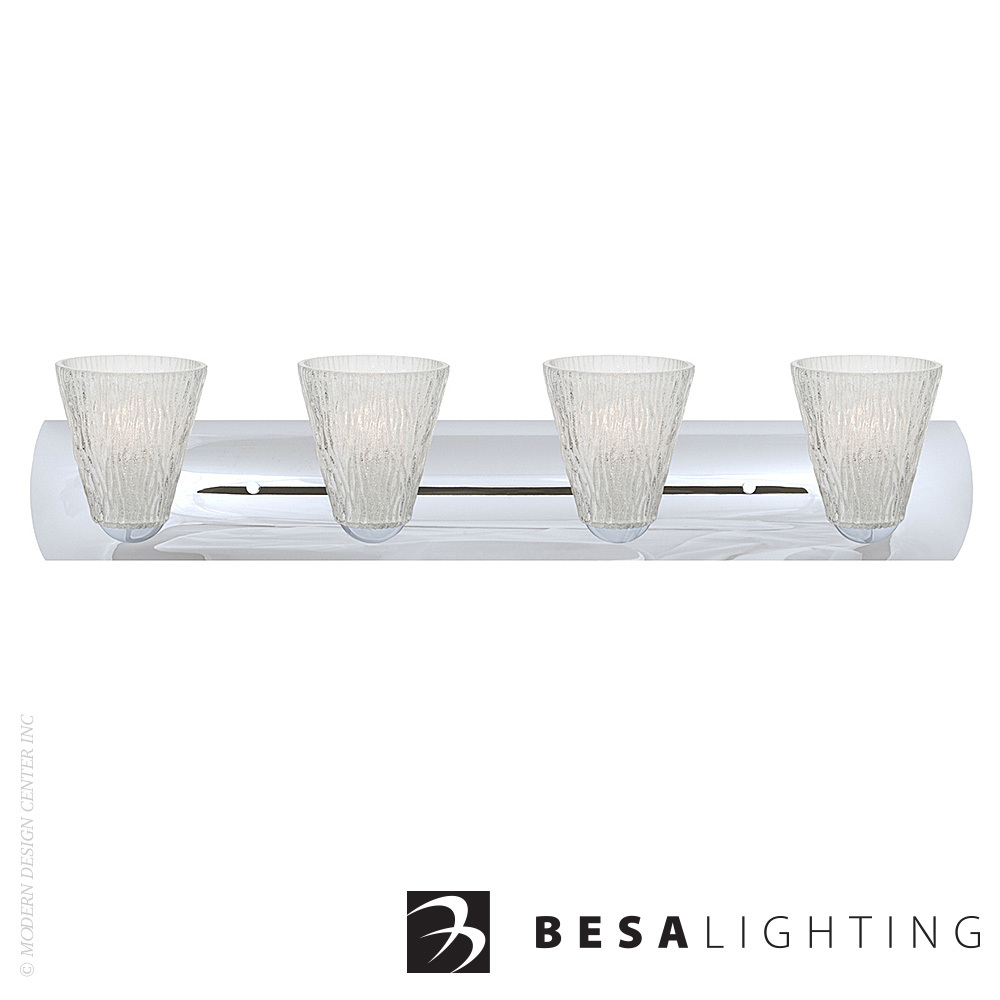 Nico 5 4-light LED Vanity Sconce | Besa Lighting