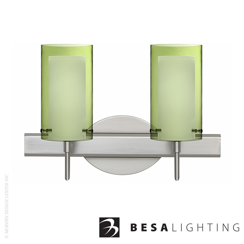 Pahu 4 2-Light Vanity Sconce | Besa Lighting | MetropolitanDecor