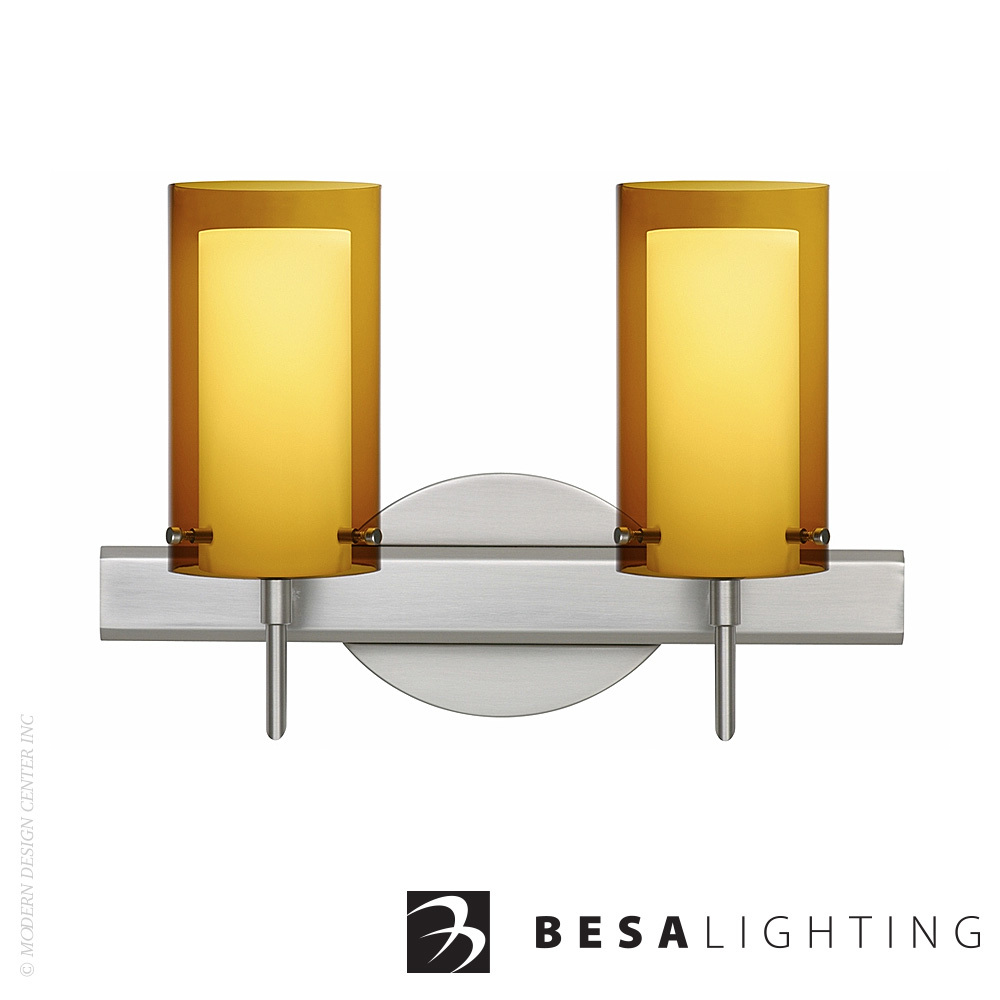 Pahu 4 2-Light LED Vanity Sconce | Besa Lighting