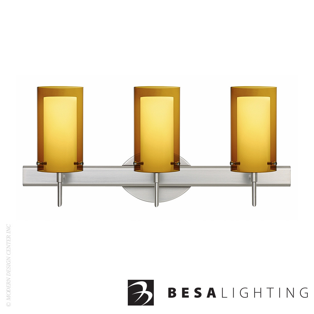 Pahu 4 3-Light Vanity Sconce | Besa Lighting