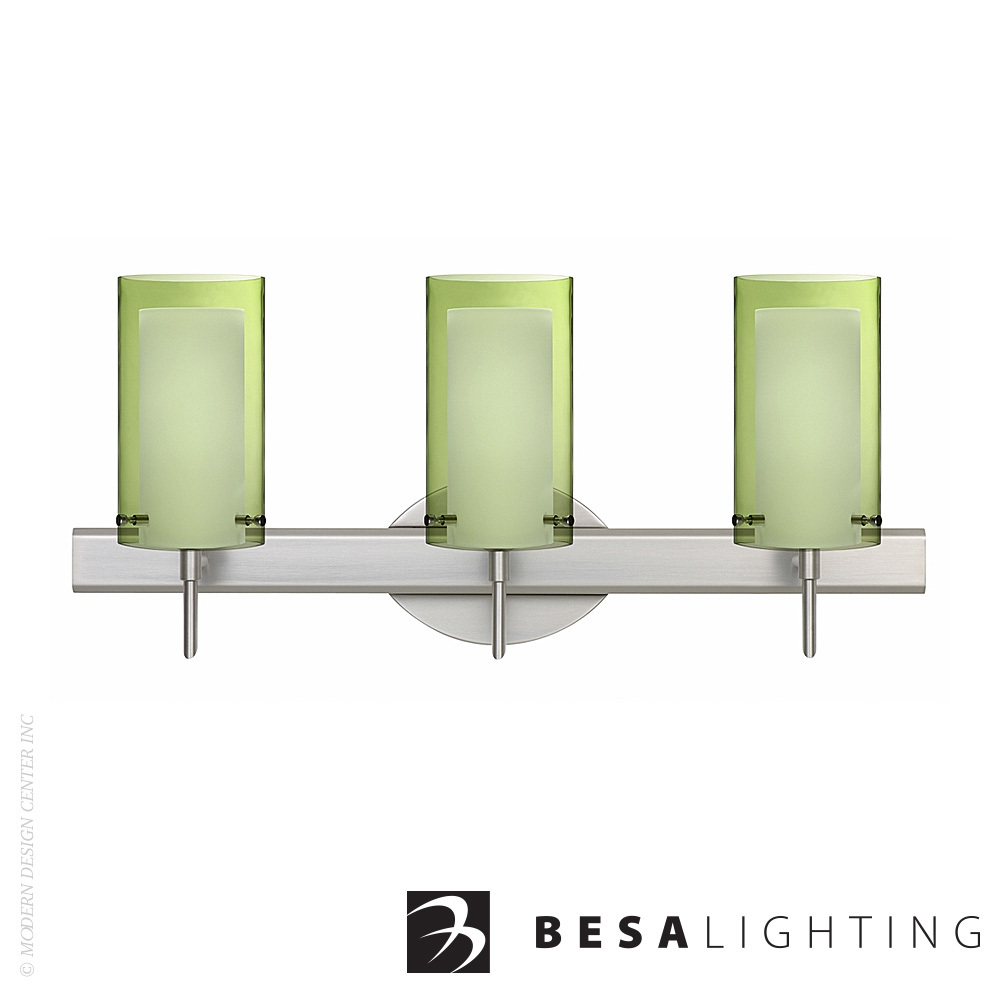 Pahu 4 3-Light LED Vanity Sconce | Besa Lighting