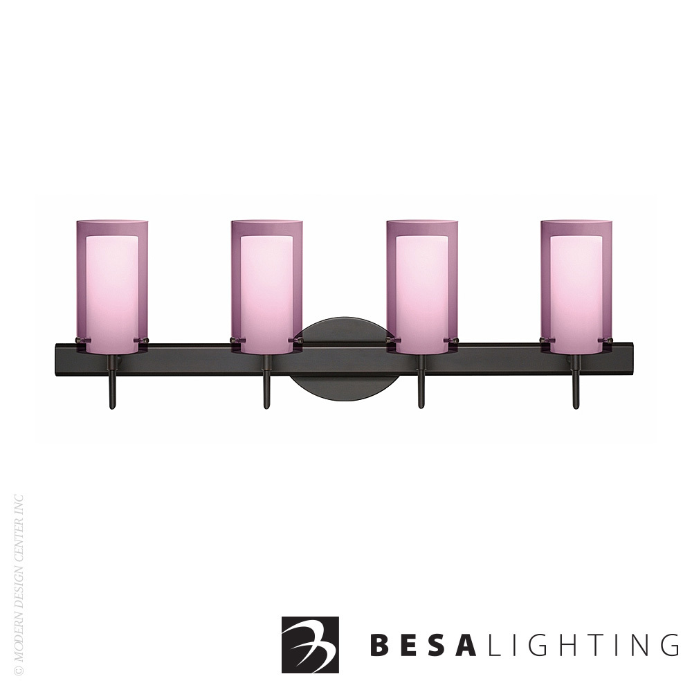Pahu 4 4-Light Vanity Sconce | Besa Lighting