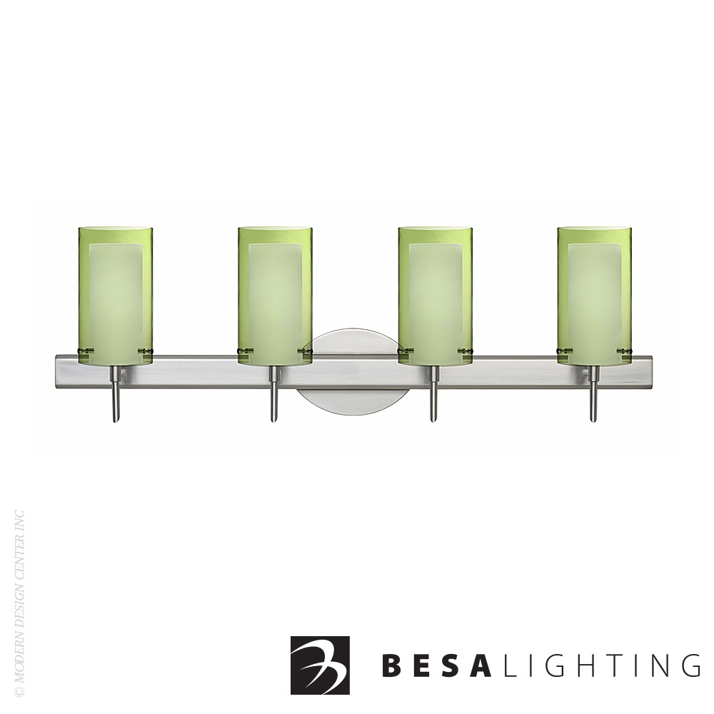 Pahu 4 4-Light LED Vanity Sconce | Besa Lighting