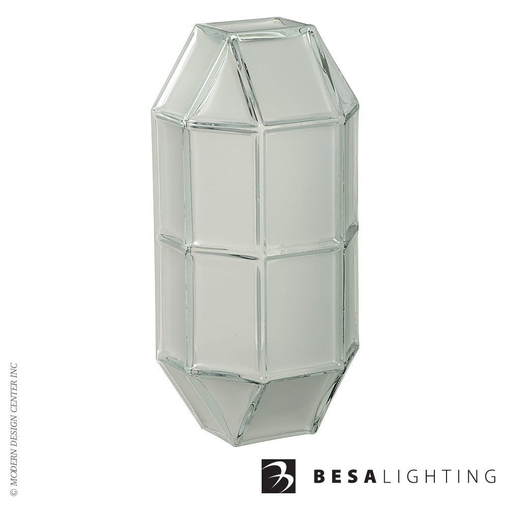Prismo 10 Outdoor Wall Sconce | Besa Lighting