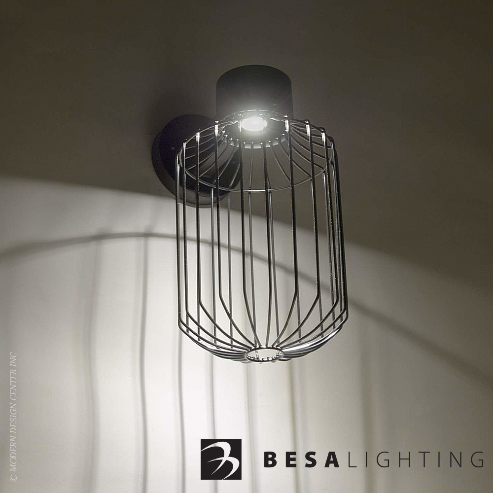 Sultana Cylinder LED Outdoor Wall Sconce | Besa Lighting