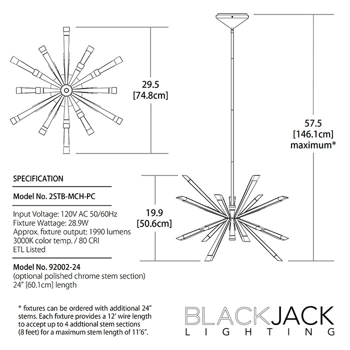 Starburst led chandelier blackjack lighting metropolitandecor mozeypictures Images