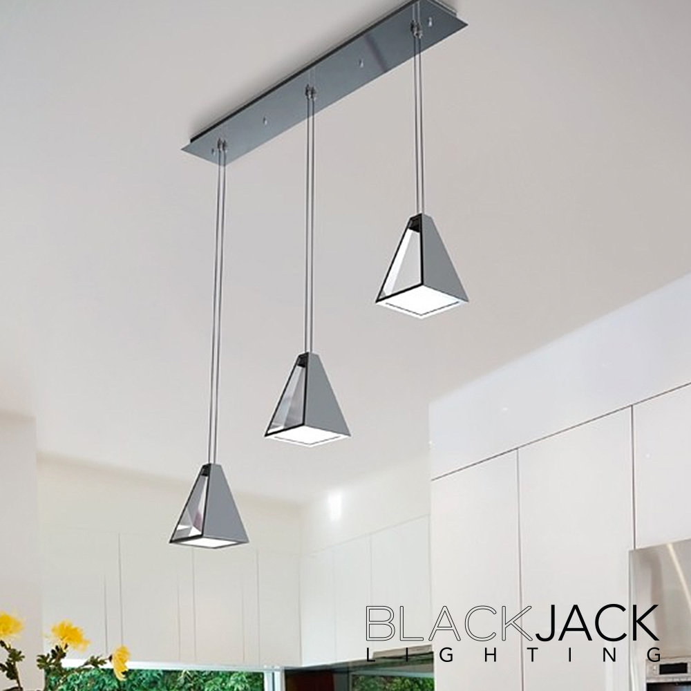 sc 1 st  MetropolitanDecor.com & Triple Tria LED Pendant | Blackjack Lighting | MetropolitanDecor