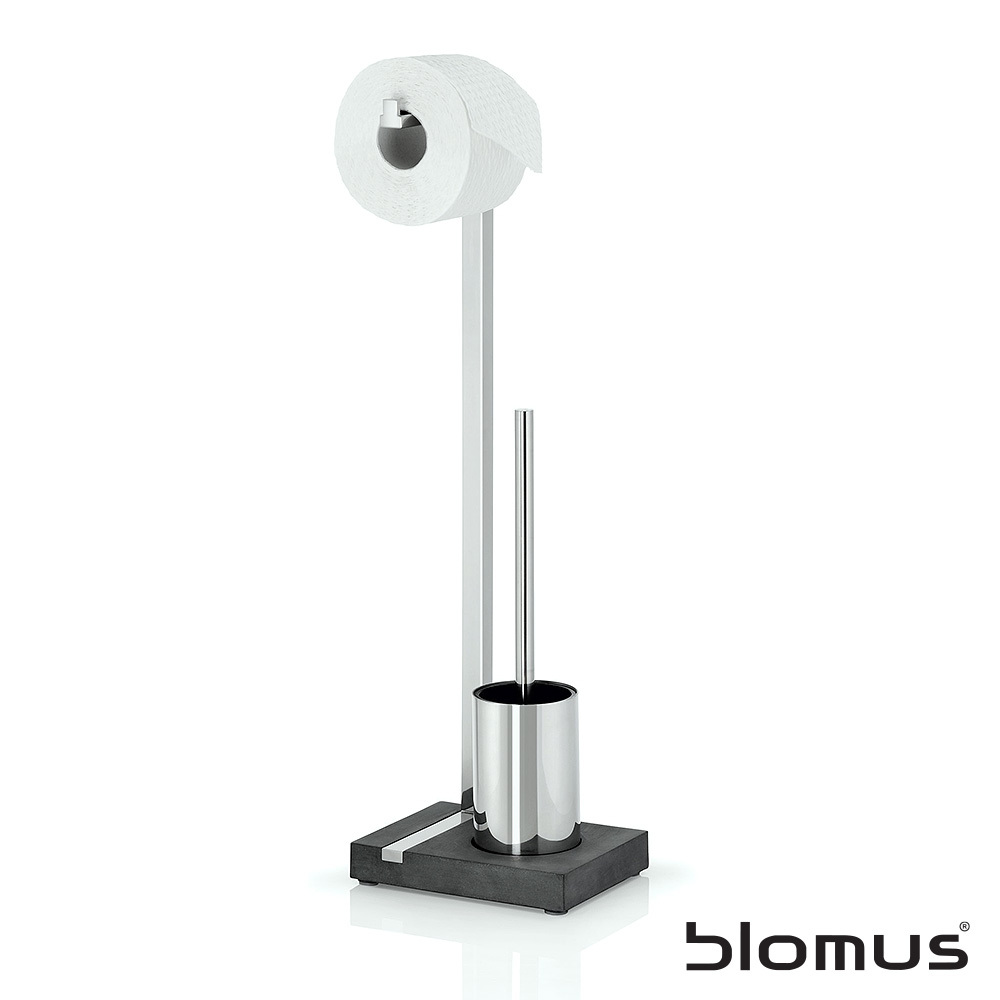 Menoto Toiletpaper and Brush Holder | Blomus