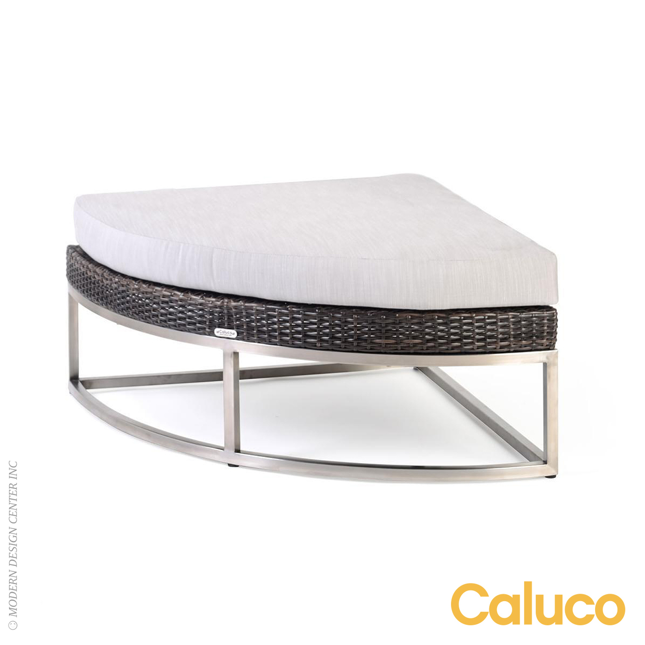 Mirabella Curved Ottoman | Caluco Patio Furniture
