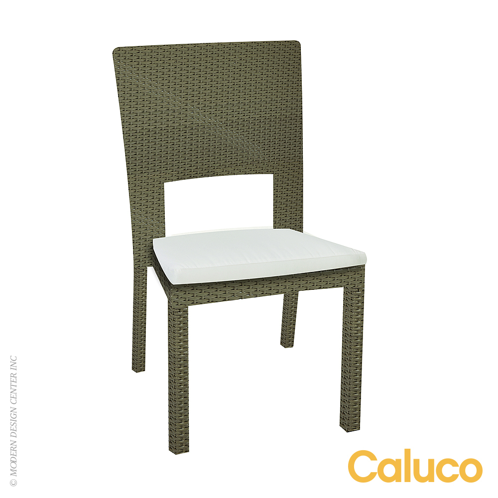 10 Tierra Stackable Dining Side Chair Set of 2 | Caluco Patio Furniture