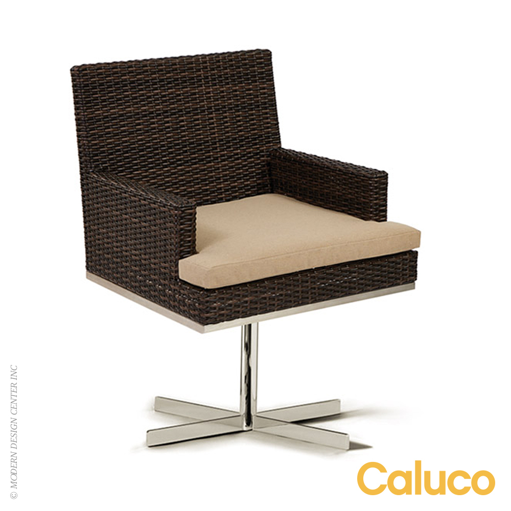 Mirabella Dining Swivel Rocker Arm Chair | Caluco Patio Furniture