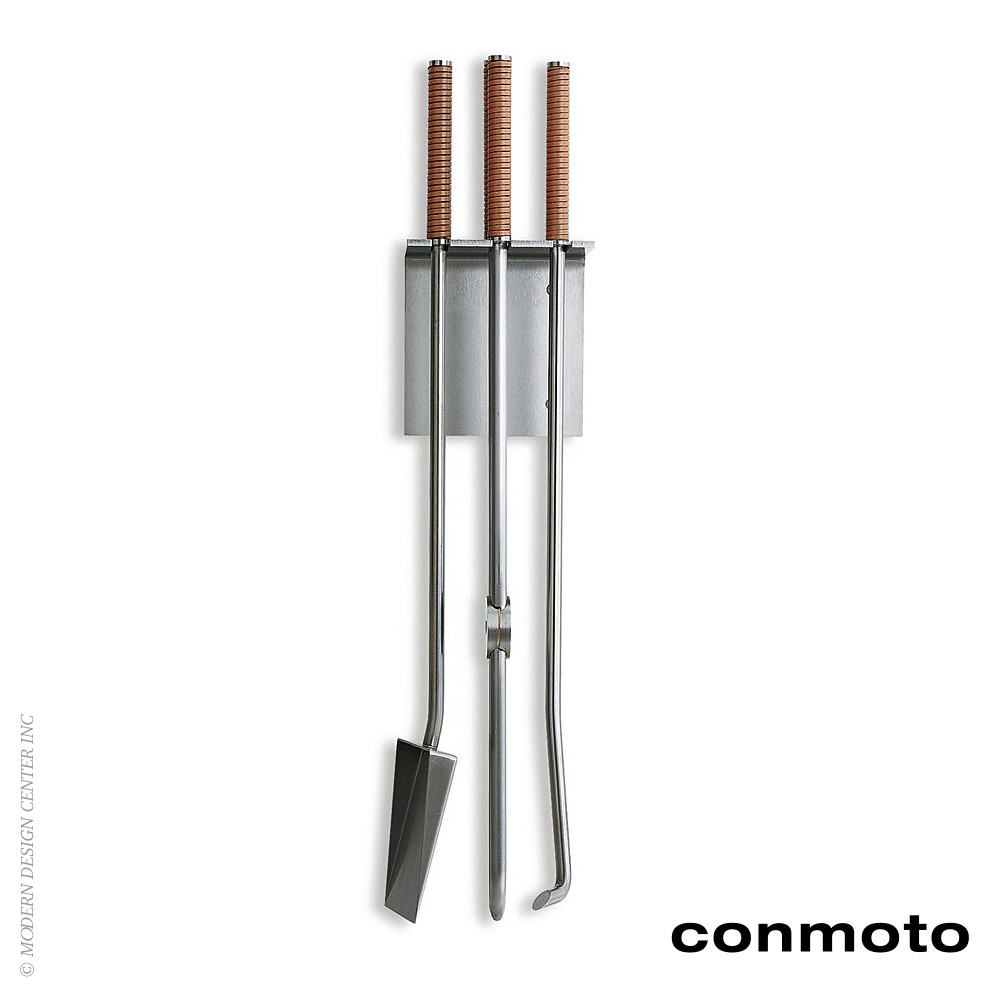 Peter Maly Wall Mounted Fireplace Tools | Conmoto