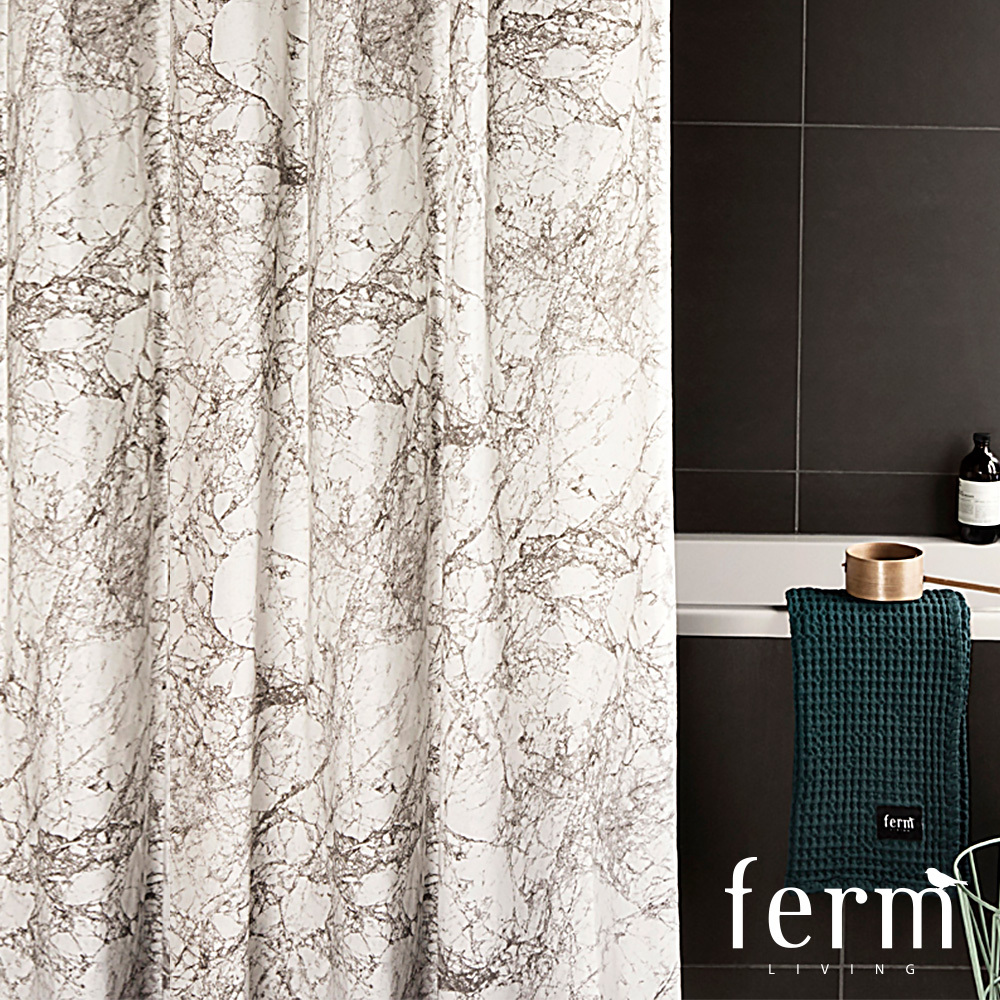Marble Shower Curtain | Ferm Living