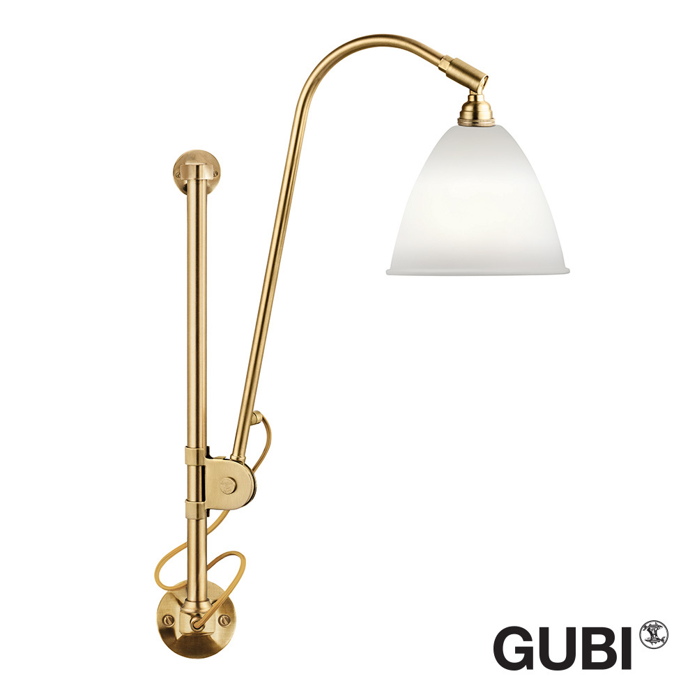 Bestlite BL5 Wall Lamp White / Brass - Open Box | Gubi